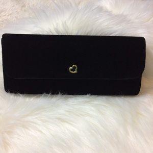 Victoria's Secret black clutch with gold inside